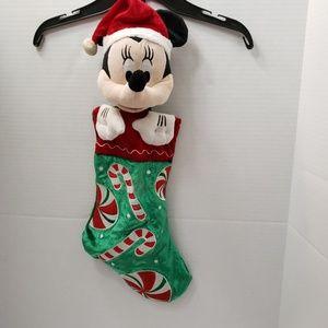 🎄Disney 3d Minnie Mouse Christmas Stocking Velvet